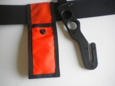 "Long Handle Hook Cutter ""Black Handle / Orange Pouch - Product Image"