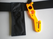 "Long Handle Hook Cutter ""Orange Handle / Black Pouch - Product Image"