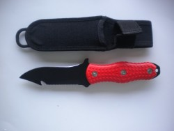 "Mac Pointed Tip  w/ Safety ORANGE Handle & includes Sheath in  ""1 Only!"" - Product Image"