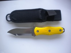 "Mac Pointed Tip  w/ High Vis Yellow Handle & includes Sheath ""1 Only!"" - Product Image"
