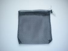 """Mini Drawstring Mesh Bag """"Black"""" - Product Image"""