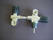 Modular DIN 300 bar Valve Left Side W/ Right Hand H Valve - Product Image