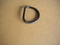"D' Ring 2""  6MM BLACK Powder Coated BENT Type Stealth Series - Product Image"