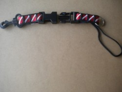 "Lanyard w/ 1"" inch plastic clip! ""Black Webbing""  - Product Image"