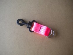 """Lanyard w/ Dual 1"""" Split Rings! """"PINK Webbing""""  - Product Image"""