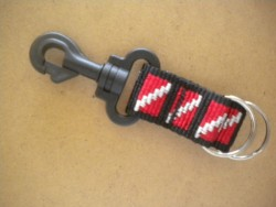 "Lanyard w/ Dual 1"" Split Rings! ""Dive Flag Webbing""  - Product Image"