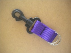 "NEW! Lanyard w/ Dual 1"" Split Rings! ""PURPLE Webbing""  - Product Image"