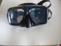 "Navigator Mask with hard plastic case! ""Black Trim / Black Skirt ""2 Only!"" - Product Image"