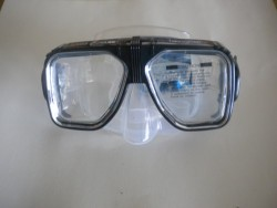 "Navigator Mask with hard plastic case! ""Black Trim / Clear Skirt ""1 Only!"" - Product Image"