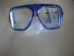 "Navigator Mask with hard plastic case! ""Blue Trim / Clear Skirt ""3 Only!"" - Product Image"