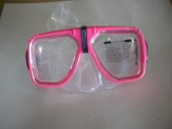 "Navigator Mask with hard plastic case! ""Pink Trim / Clear Skirt ""1 Only!"" - Product Image"