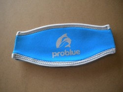 "Neoprene Mask Strap Cover ""Light Blue / Black""  - Product Image"