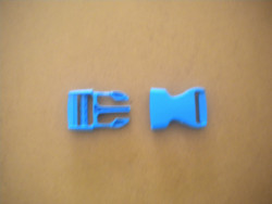 """New! 1"""" Inch Quick Release Plastic Buckle -Complete Set- """"Blue Body"""" - Product Image"""