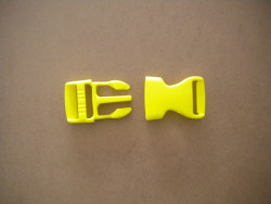 """New! 1"""" Inch Quick Release Plastic Buckle -Complete Set- """"High Vis Yellow Body"""" - Product Image"""