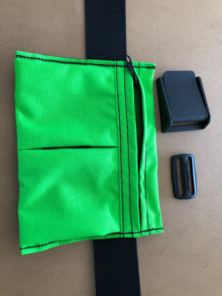 "New! 2 Pocket Weight Pocket ""Neon Green"" - Product Image"
