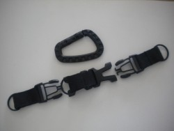 "3 Way Lanyard w/ Plastic Carabiner ""Black Model"" - Product Image"