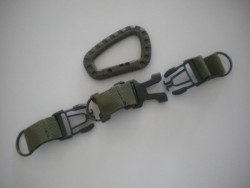 "3 Way Lanyard w/ Plastic Carabiner ""Military Green Model"" - Product Image"