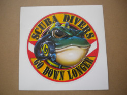 """New! Amphibious Outfitters Die Cut Decals """"Scuba Divers Frog Design"""" - Product Image"""