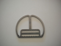 "Backmount Clip ""Flat Plate"" w/ Teeth - Product Image"