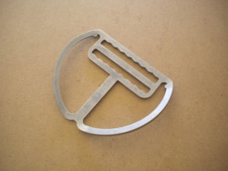 "New! Backmount Clip ""Slightly Angled Plate"" w/ Teeth - Product Image"