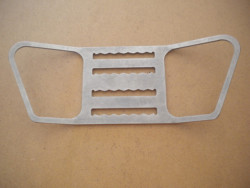 "New Rear Backmount Style Tec Clip ""Slightly Angled Plate"" w/ Teeth - Product Image"
