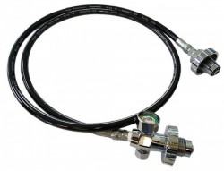New!!  Din Cylinder Transfill Hose w/ Pony Bottle Gauge! - Product Image