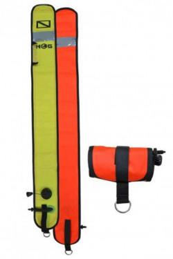 "Hog! 45"" Inch Orange / Yellow SMB w/ Reflective Tape ""Closed Bottom"" - Product Image"