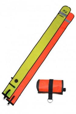 "Hog! 6ft Orange / Yellow SMB w/ Reflective Tape ""Duck Flapper Valve Bottom"" - Product Image"