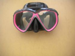 "IST Martinique Mask "" Pink Trim / Black Skirt"" - Product Image"