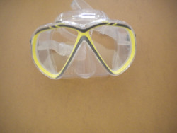 """IST Martinique Mask """" Yellow Trim / Clear Skirt"""" - Product Image"""