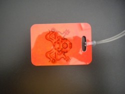 "Octopus Helmet Luggage Tag   ""One Tag Price"" - Product Image"