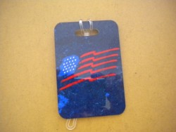 "New! Patriotic American Flag Luggage Tag   ""One Tag Price"" - Product Image"