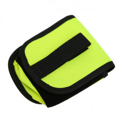 """New! Piranha Dive Mfg 4.4lbs Quick Attach / Release Pocket """"Neon Yellow"""" Per Piece! - Product Image"""