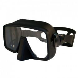 """New! Piranha Swift Frameless Mask   """"Black Frame w/Black Skirt"""" - Product Image"""