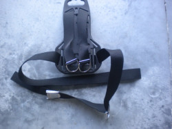 New! Plastic Heavy Duty Style Backplate w/ Harness - Product Image
