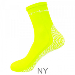 "New! Pro Spandex Socks ""Color: High Viz Neon Yellow""  - Product Image"