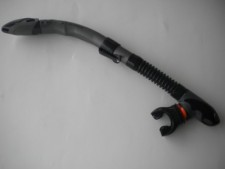 "New! Semi-Dry Snorkel w/360 Degree Movable Mouthpiece ""Black / Grey"" ""1 Only"" - Product Image"