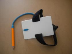 "New! Small Wrist Slate 4"" x 2 1/2"" w/ Writing Pencil & Velcro Strap - Product Image"