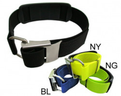 New! Stainless Steel Cam Strap in BLACK Webbing - Product Image