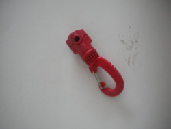 """New! Swiveling Magnetic Clip w/ Stainless Steel Gate """" Rocket Red"""" - Product Image"""