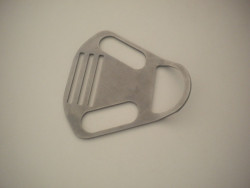 """New! Tec Backmount Plate """"Angled Lower Loop"""" w/ No Teeth - Product Image"""