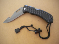 "New! Titanium Folding Knife "" Black Handle"" ""1 left!"" - Product Image"