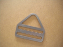 """New! Triangle D-Ring w/ Smooth Locking Teeth """"Straight Version"""" - Product Image"""