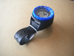 New! Wrist Mountable Compass with BLUE Bezel! 2 Only! - Product Image