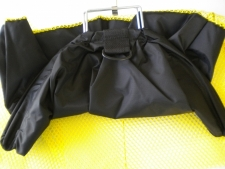 "Nylon Catch Bag Black/Yellow #2 w/ D-ring ""Large Size"" - Product Image"