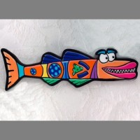Orange Barraccuda Wall Art - Product Image