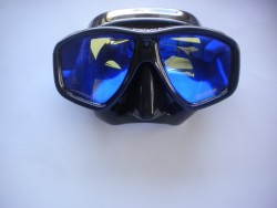 "Ornata Frame-less Mask ""Black Frame / Black Skirt with Reflective Lens"" "" 1 Only!"" - Product Image"