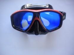 "Ornata Frame-less Mask ""Golden Orange Frame / Black Skirt with Reflective Lens"" "" 1 Left!"" - Product Image"