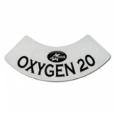 Oxygen 20 Neck Tank Decal - Product Image