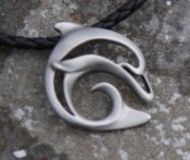 Pewter Dolphin Necklace - Product Image